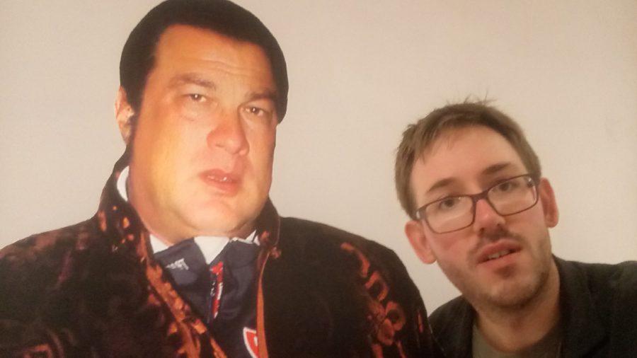 """""""selfie"""" met Steven Seagal"""